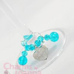 Wedding Top Table Wine Glass Charms